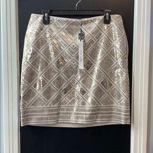 White house black market sequin skirt nwt size 8